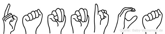 Dannica im Fingeralphabet der Deutschen Gebärdensprache