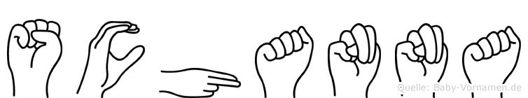 Schanna in Fingersprache für Gehörlose