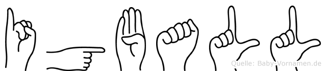 Igball im Fingeralphabet der Deutschen Gebärdensprache