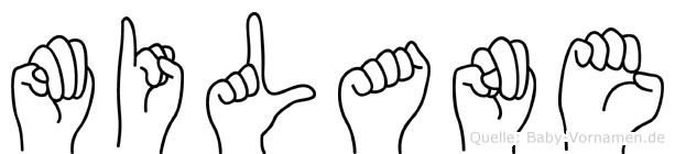 Milane im Fingeralphabet der Deutschen Gebärdensprache