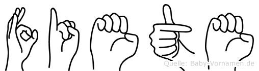 Fiete in Fingersprache für Gehörlose
