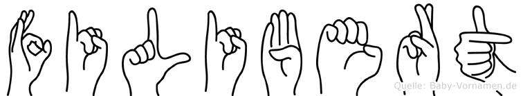 Filibert im Fingeralphabet der Deutschen Gebärdensprache