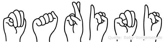 Marini in Fingersprache für Gehörlose