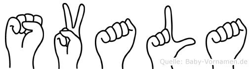 Svala in Fingersprache für Gehörlose