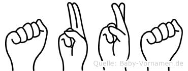 Aura in Fingersprache für Gehörlose