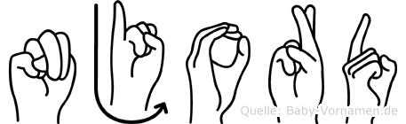 Njord in Fingersprache für Gehörlose
