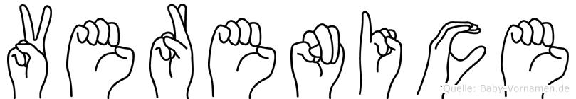 Verenice in Fingersprache für Gehörlose