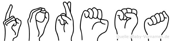 Doresa in Fingersprache für Gehörlose
