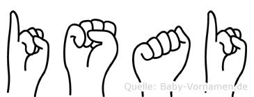 Isai im Fingeralphabet der Deutschen Gebärdensprache