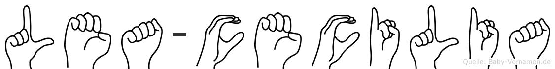Lea-Cecilia im Fingeralphabet der Deutschen Gebärdensprache