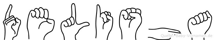 Delisha in Fingersprache für Gehörlose