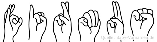 Firmus in Fingersprache für Gehörlose