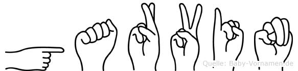 Garvin in Fingersprache für Gehörlose