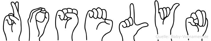 Roselyn im Fingeralphabet der Deutschen Gebärdensprache