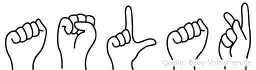 Aslak in Fingersprache für Gehörlose