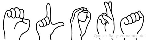 Elora im Fingeralphabet der Deutschen Gebärdensprache
