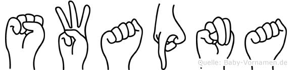 Swapna im Fingeralphabet der Deutschen Gebärdensprache