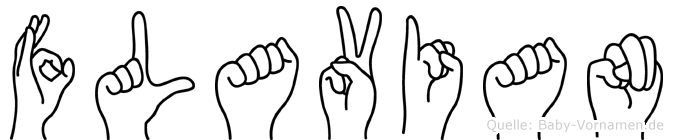 Flavian im Fingeralphabet der Deutschen Gebärdensprache