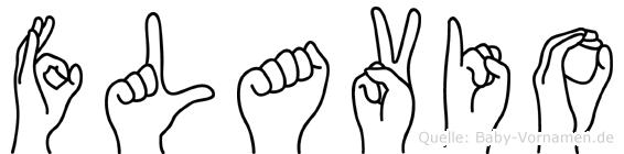 Flavio im Fingeralphabet der Deutschen Gebärdensprache