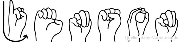 Jenson in Fingersprache für Gehörlose