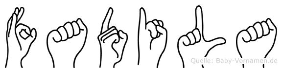 Fadila in Fingersprache für Gehörlose