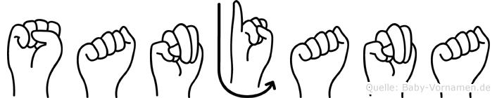 Sanjana im Fingeralphabet der Deutschen Gebärdensprache