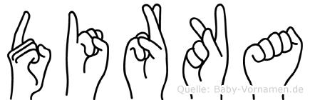 Dirka in Fingersprache für Gehörlose