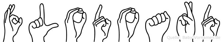 Flodoard im Fingeralphabet der Deutschen Gebärdensprache