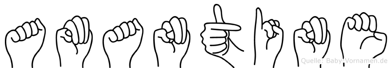 Amantine in Fingersprache für Gehörlose