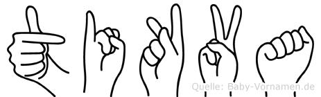 Tikva im Fingeralphabet der Deutschen Gebärdensprache