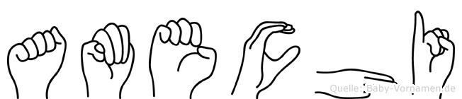 Amechi in Fingersprache für Gehörlose
