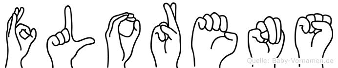 Florens im Fingeralphabet der Deutschen Gebärdensprache