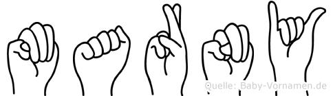 Marny in Fingersprache für Gehörlose