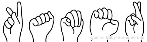 Kamer im Fingeralphabet der Deutschen Gebärdensprache