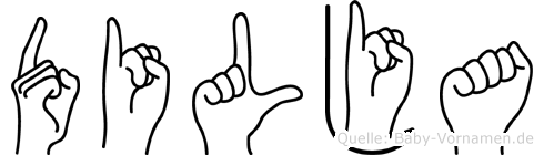 Dilja im Fingeralphabet der Deutschen Gebärdensprache