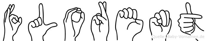 Florent im Fingeralphabet der Deutschen Gebärdensprache