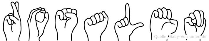 Rosalen in Fingersprache für Gehörlose