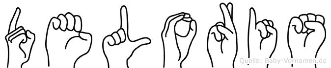 Deloris in Fingersprache für Gehörlose