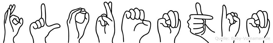 Florentin in Fingersprache für Gehörlose