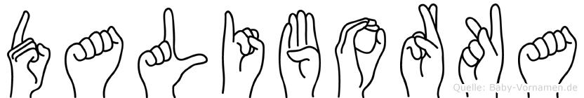 Daliborka im Fingeralphabet der Deutschen Gebärdensprache