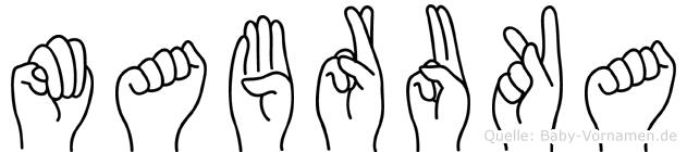 Mabruka in Fingersprache für Gehörlose