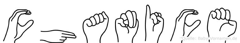 Chanice im Fingeralphabet der Deutschen Gebärdensprache