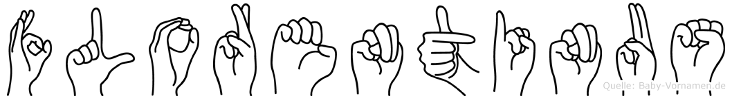 Florentinus im Fingeralphabet der Deutschen Gebärdensprache