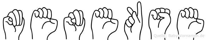 Menekse im Fingeralphabet der Deutschen Gebärdensprache
