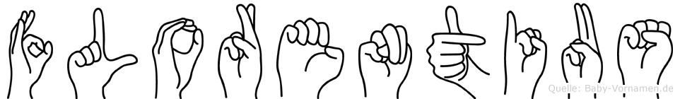 Florentius im Fingeralphabet der Deutschen Gebärdensprache