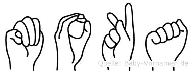 Moka in Fingersprache für Gehörlose
