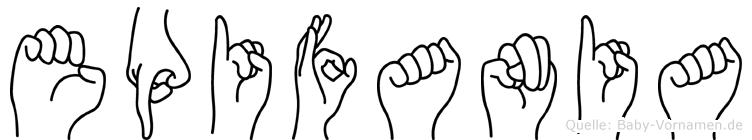 Epifania im Fingeralphabet der Deutschen Gebärdensprache