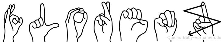 Florenz im Fingeralphabet der Deutschen Gebärdensprache