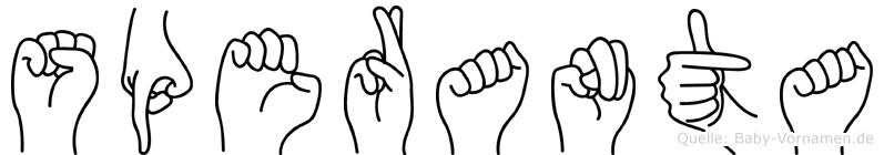 Speranta in Fingersprache für Gehörlose