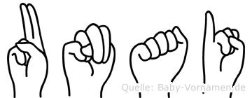 Unai in Fingersprache für Gehörlose